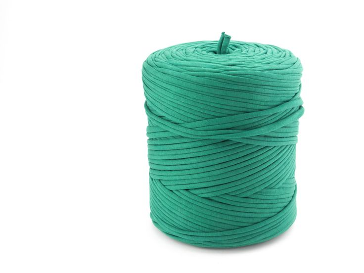 T-shirt yarn - Chunky, bulky, thick cotton 135 yds, 120 m (approx.) - kelly…