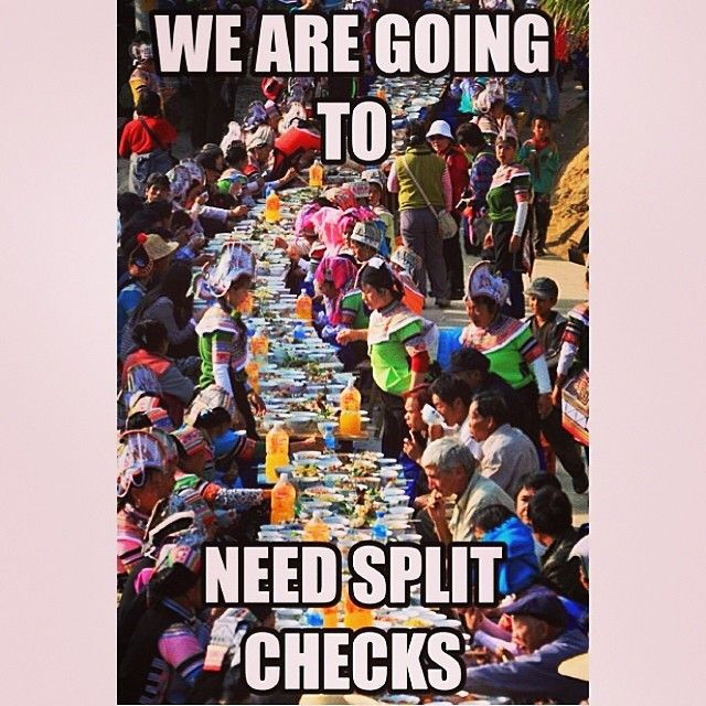 How I think the waitress feels when all my fam goes out to eat together lol