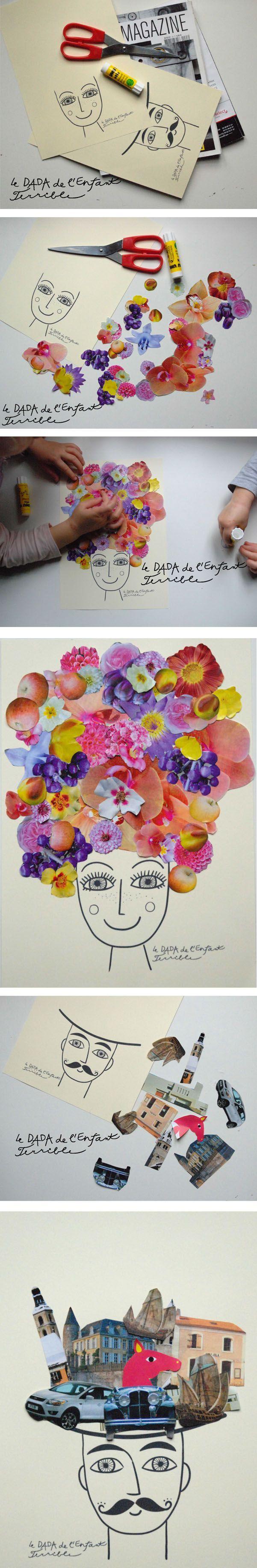 Collage- bunte Köpfe/Ideenreich