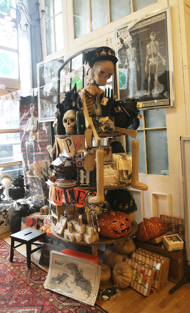 See the Halloween store displays at 435 Broome Street.
