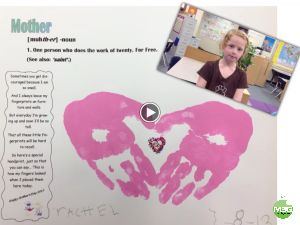 Mother's Day Video Card with Explain Everything App. Hand Prints + Video + Their Cute Voice = Melting Mom's Heart