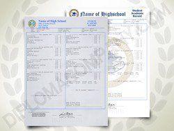 Fake USA High School Transcript