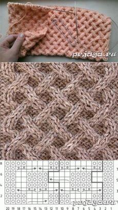 «Плетенка» узоры спицами