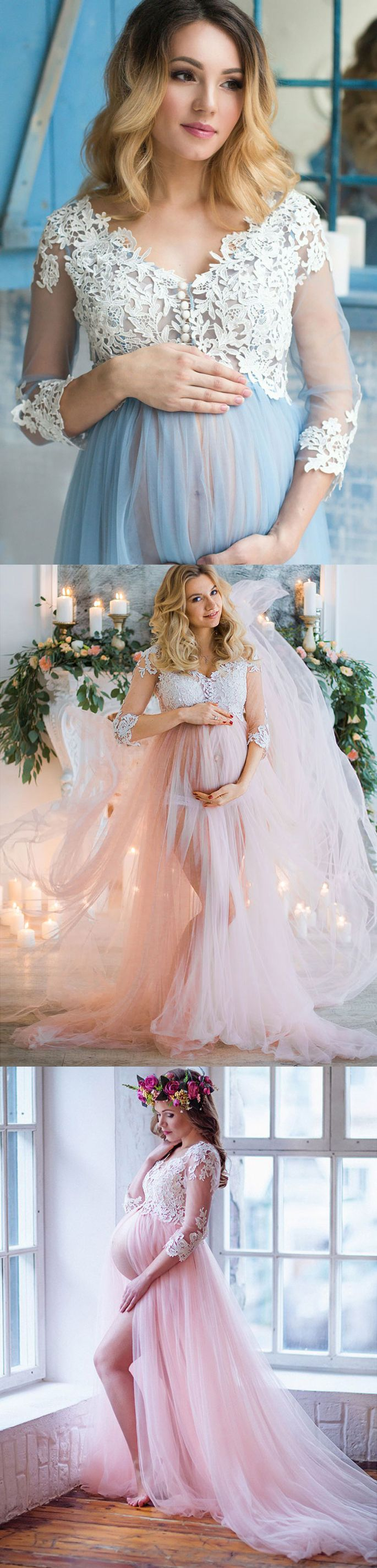 Empire Lace prom dresses,Maternity wedding dresses,#sheergirl #prom #maternity