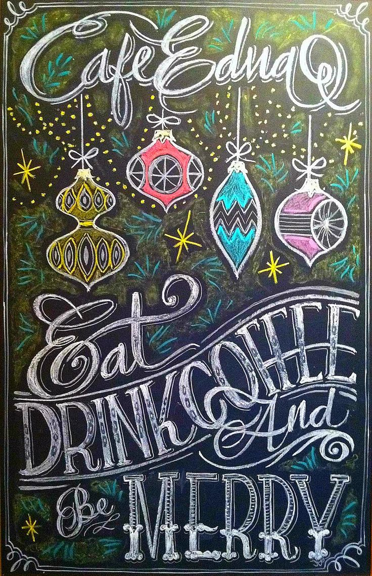 christmas chalk design by carolina ro hand lettering pinterest