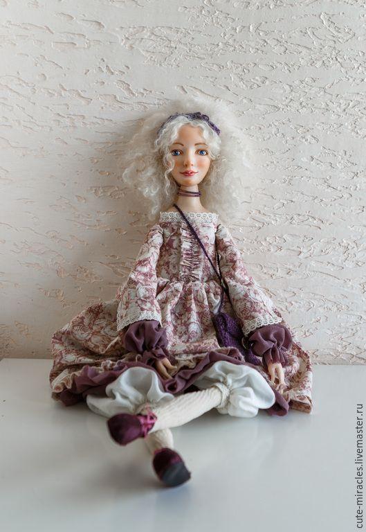 Купить Полина - бледно-розовый, куклы ручной работы, кукла интерьерная, куклы в подарок