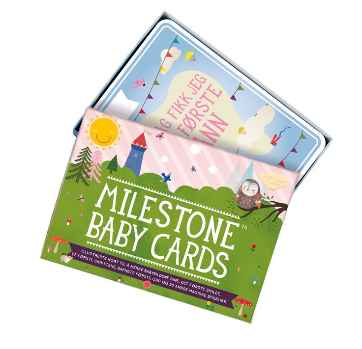 BABYKORT I ESKE - MILESTONE CARDS from minikids.no