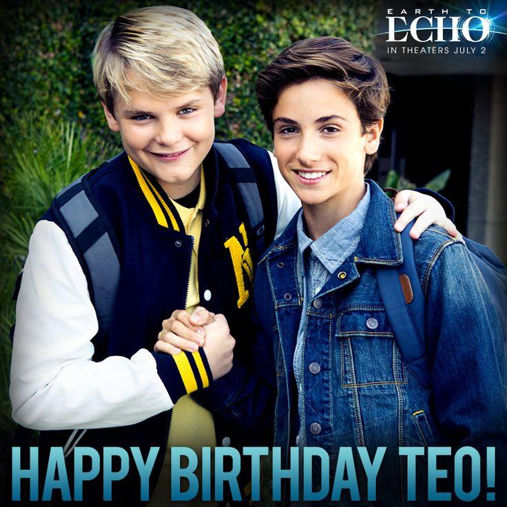 Happy birthday to Teo Halm! #EarthToEcho