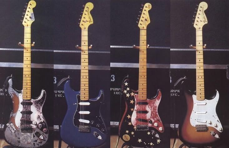 Mellon Collie Guitars From Left To Right 1 Bat Strat 1990