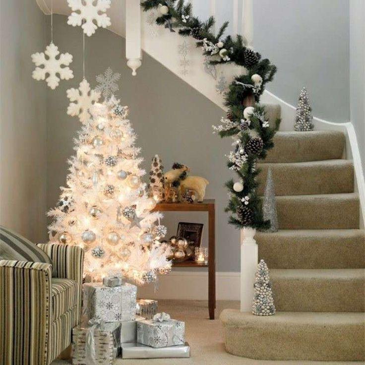 Decorazioni luminose natalizie per interni - Albero di Natale bianco