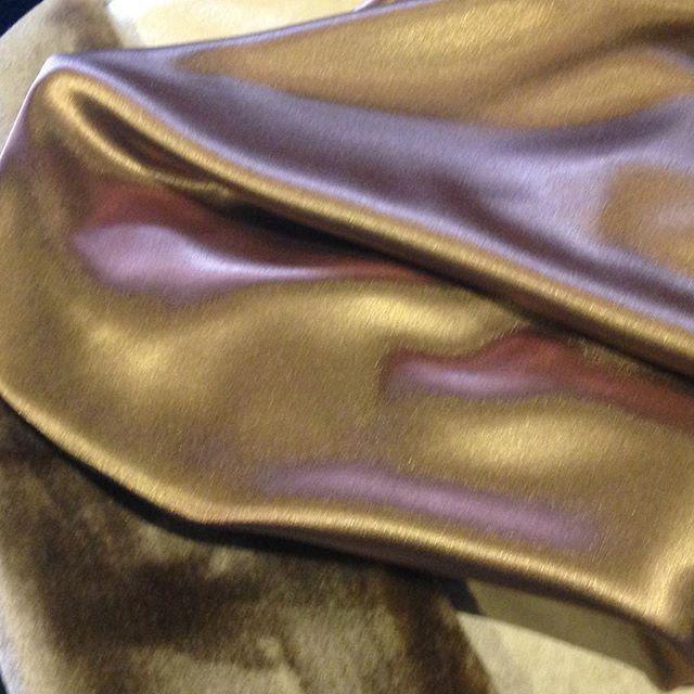 Luscious chocolate furs and gold satin for a clients winter wedding #bespoke #custom #unique #quality #handmade #designer #lenakasparian #satin #fur #wedding #bridesmaiddress #weddingdress #bride #bridesmaid #sydney #australiandesigner #fashiondesign #australianfashion