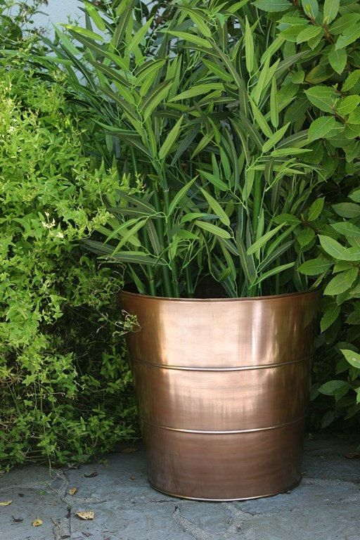 Bronze copper planter or use to store by CoppercraftDesign on Etsy, €395.00