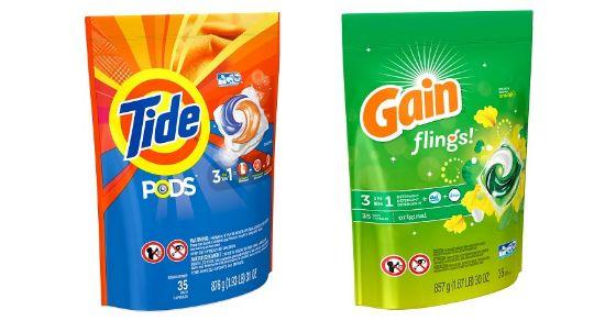 Tide Pods & Gain Flings Target $15/$50 & Coupons: $3.92 each!