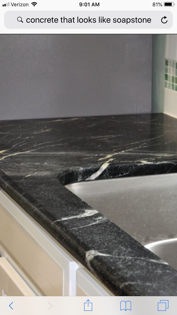 Concrete Countertop To Look Like Soap Stone Soapstone Concrete Concrete Countertops