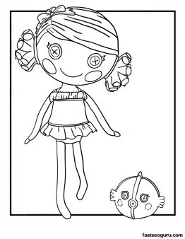 printable coral sea shells lalaloopsy coloring pages printable coloring pages for kids