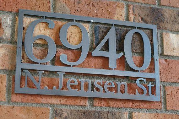 Modern House numbers / Steel house numbers / Craftsman house number /Address / House Address on Etsy, $47.00