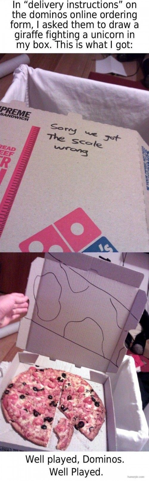 Well played, Dominos, well played.