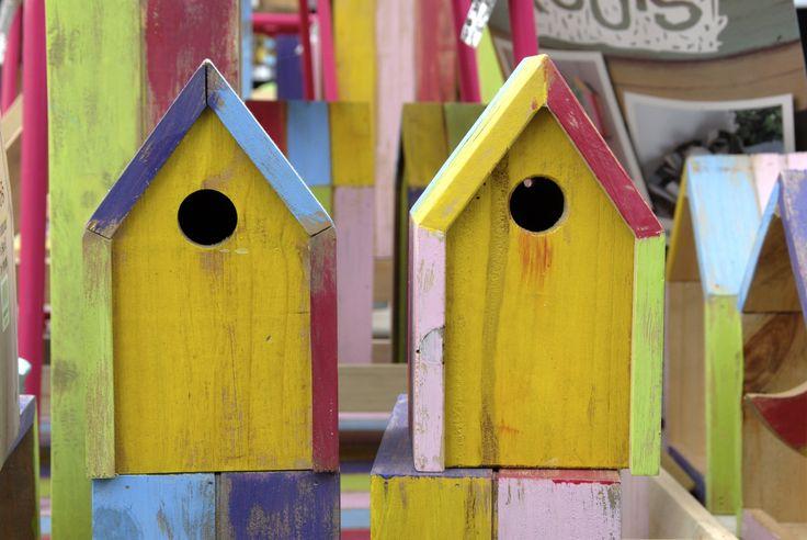Intratuin kleurt je leven / vogelhuisjes bij Intratuin 's-Gravenzande