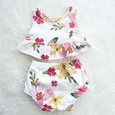 Summer Floral Peplum Set