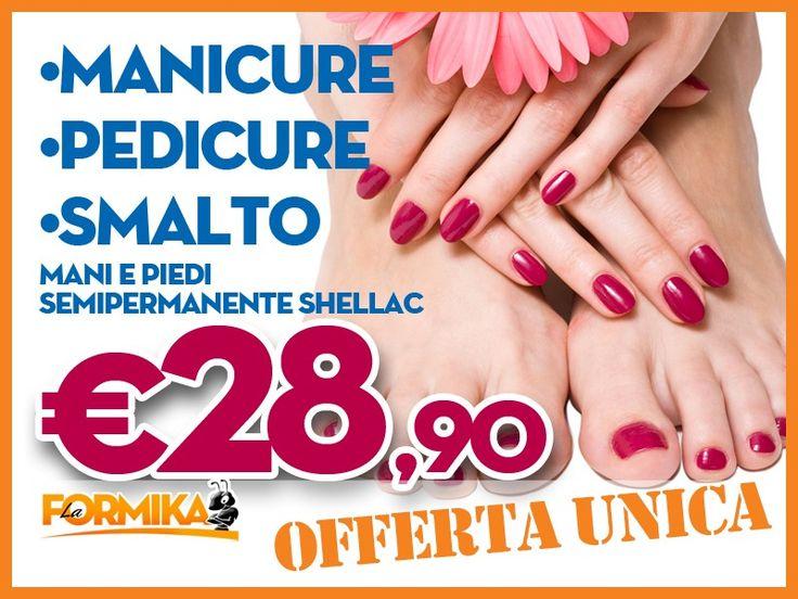 Eva's: Manicure, Pedicure, Smalto Shellac mani & piedi. A € 28,90!!!  LaFormika