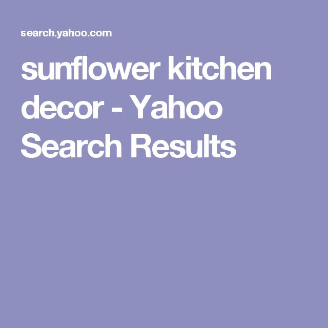 sunflower kitchen decor - Yahoo Search Results