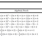 Algebraic proofs involves expanding brackets, factorisation including difference of two squares. It also involves multiples, factors and divisibili...