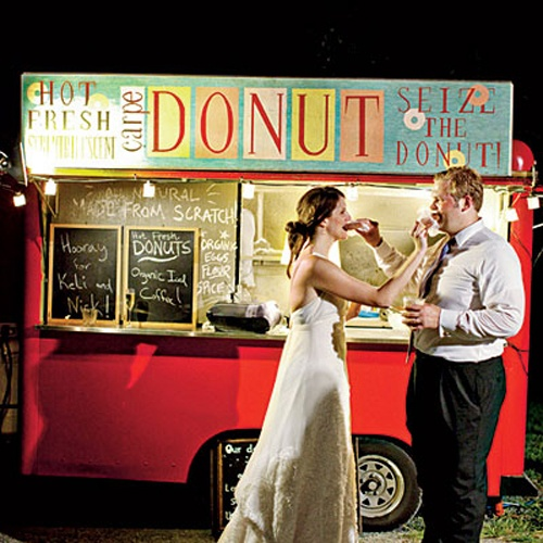 Wedding food truck! Guess what they serve...