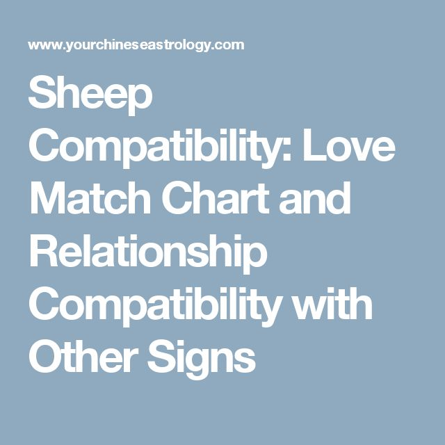 Sheep Compatibility: Love Match Chart and Relationship Compatibility with Other Signs