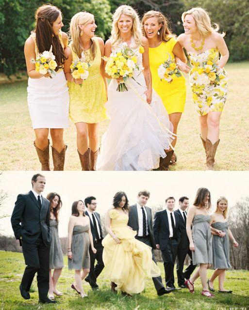 Ma Petite Rouge ------ Les Beaux Mariages: Mariage et Robe de mariée en automne 2014 – Jaune mariage champêtre