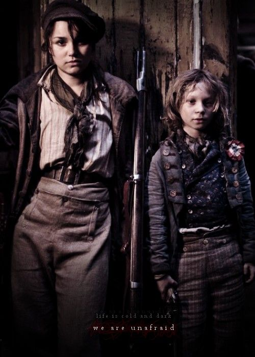 Oh goodness. They're actually acknowledging that Eponine and Gavroche are related. So excited!