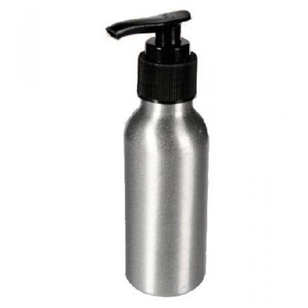 Dispensador de Jabón de Aluminio. De gran utilidad para dispensar jabón en cocina o baños. Capacidad 100 ml. Medidas 14 x 4 cm. Expositor punto de venta gratis por la compra de 12 Uds.