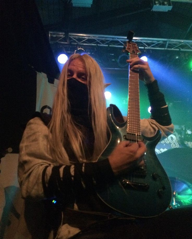 Aerendir - Twilight Force ⚫ Photo by Denise Houben ⚫ Copenhagen 2016 ⚫ #TwilightForce #music #metal #concert #gig #musician #Aerendir #guitar #guitarist #elf #performing #playing #mask #wow #warcraft #anime #tabard #bracers #dragon #fire #castle #blond #longhair #festival #photo #fantasy #magic #cosplay #larp #man #onstage #live #celebrity #band #artist #performing #Sweden #Swedish