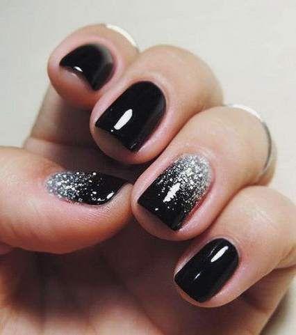#Acrylic Nails dark #Black #dark #Gold #Ideas #Nails –