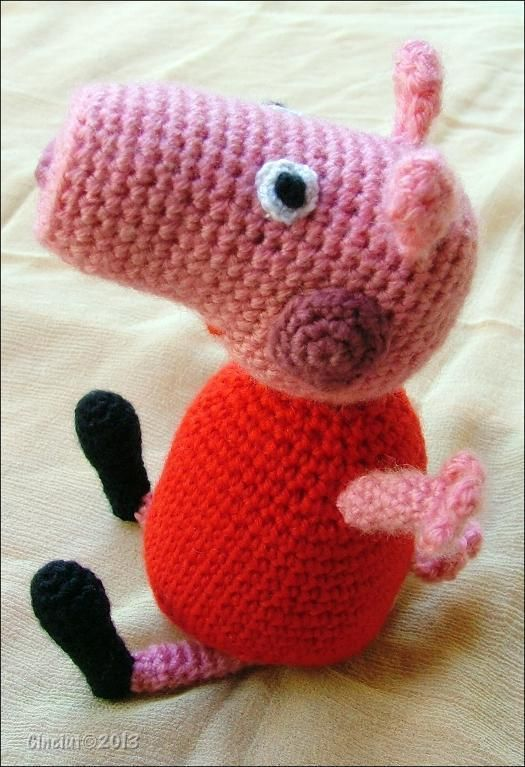 Knitting Patterns Peppa Pig Toys : (4) Name: Crocheting : Peppa Pig Amigurumi Amiguri Pinterest Amigu...