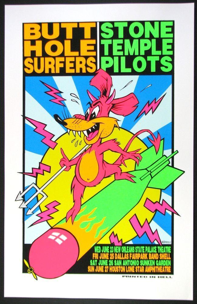 Butthole Surfers POSTER Stone Temple Pilots Frank Kozik Print Un-Signed Promo