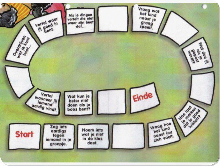 Bij dit spel bevorder je de sociale emotionele ontwikkeling. Je dobbelt en leest de opdracht van het vakje waar je op terecht komt en voert die uit.