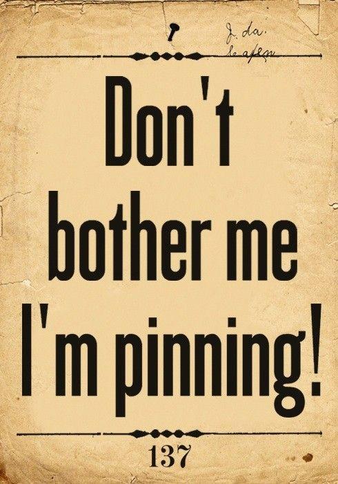 I'm Pinning