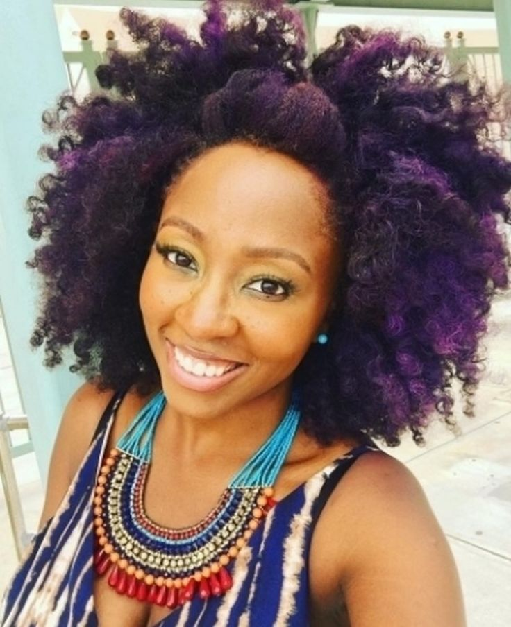 Purple fro #naturalhair