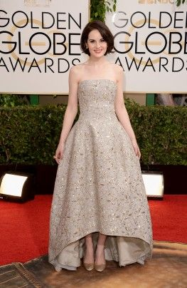 Michelle Dockery in Oscar de la Renta 2014 Golden Globes