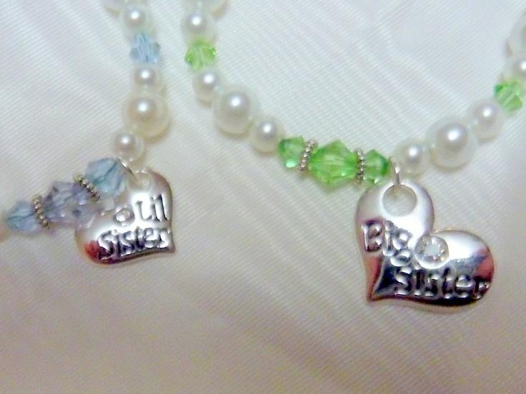 Sisters Bracelets Childs Bracelet Big by JulieButlerCreations, $37.50Child Bracelets, Bracelets Child, Bracelets Big, Sisters Bracelets