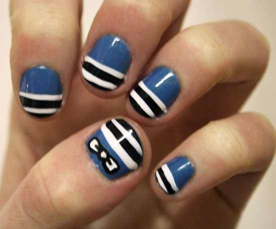 cute idea for short nails http://cutenailideas.com/easy-and-cute-short-nail-designs/