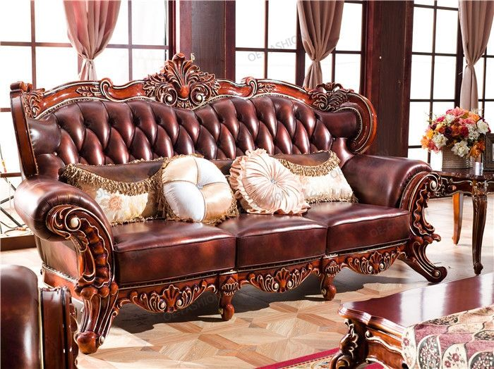 2018 Newest Luxury Wood Carving Living Room Leather Sofa Furniture View Luxury Living Room Furniture Oe Fashion Product Details From Foshan Oe Fashion Furnitu Leather Sofa Furniture Luxury Furniture Living Room Leather Sofa