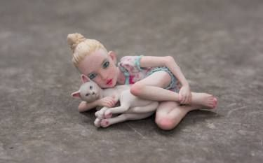 "Saatchi Art Artist Eric van Straaten; Sculpture, ""Kitten \ Limited Edition 4 of…"
