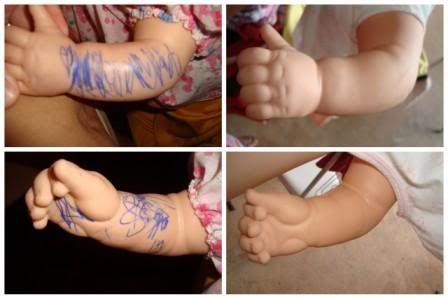Sabe aquela bonequinha que você ama e a sua filha achou uma caneta e aproveitou??? Temos uma solução pra ela!! Muito fácil e baratinho, vam...