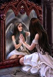 Saint Brigit.  IntoThe Looking-Glass; 'Who Will You Be When The Walls Come Down?'  By, AuroRa Le.  May 7, 2012.