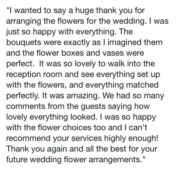 A message from my happy beautiful client.