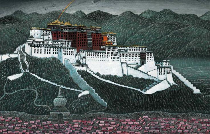 Petr Sís: z knihy Tibet / Tajemství červené krabičky, Labyrint, 2005
