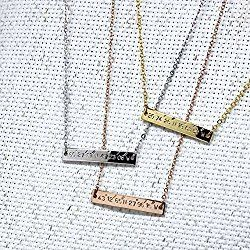 Engraved Necklace,Name bar necklace,custom jewelry,Personalized Jewelry,Graduation gift, Bridesmaid Gift,Mother's day gift,Gift for her