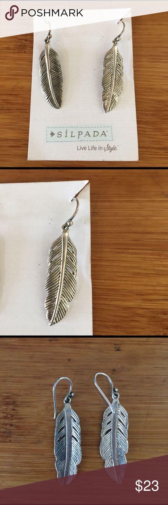 Silpada design Sterling silver earrings Silpada Designs feather earrings Sterling silver Silpada Jewelry Earrings