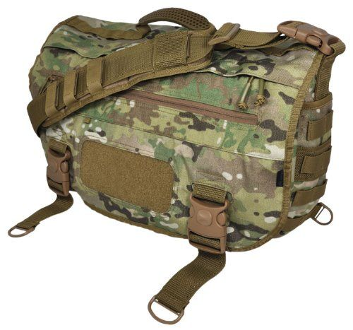 Hazard 4 Defense Courier Laptop Messenger Bag with Molle, Multicam Front/side web arrays to add a layer of custom gear; inside loop-patch for holsters, patches, organizers (on laptop sleeve). Locking mil-spec polymer buckles to discourage pickpockets and internal side-wall pockets in main cargo bay for magazines, bottles, etc.. Heavy-duty shoulder strap with pad and side stabilizer-strap, and full... #HAZARD4 #Sports